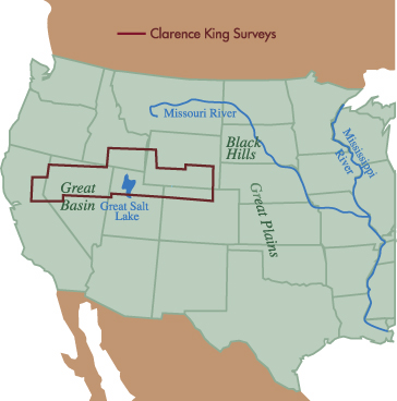 Four Great Surveys Of The West - 40th parallel us map